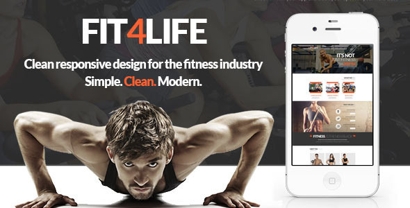 Fit4Life - Gym & Fitness PSD Template  TFx