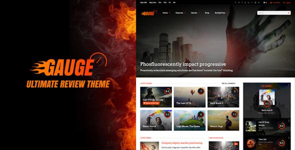 Gauge: Ultimate Review Theme  TFx WordPress