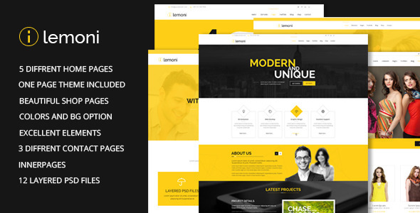 Lemoni - Multipurpose HTML5 Template  TFx