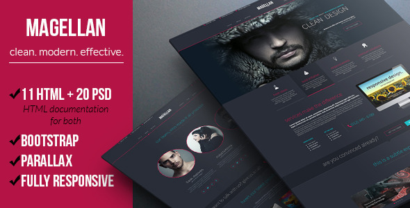 Magellan - Clean Multipurpose Template  TFx