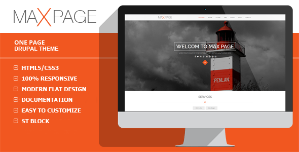 Maxpage - One Page Drupal Theme  TFx Drupal