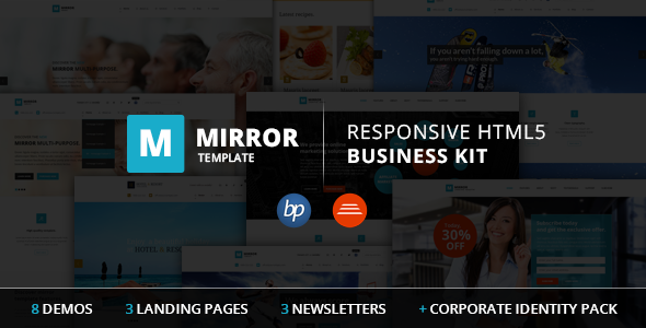 Mirror - Responsive HTML5 Business Kit  TFx