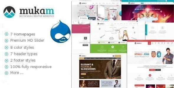 Mukam - Limitless Multipurpose Drupal Theme  TFx