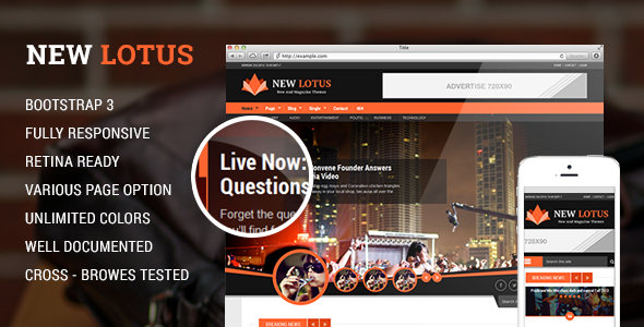 New Lotus Magazine HTML5 template  TFx
