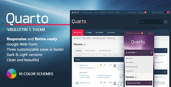 Quarto — vBulletin 5 Responsive Retina Ready Theme  TFx