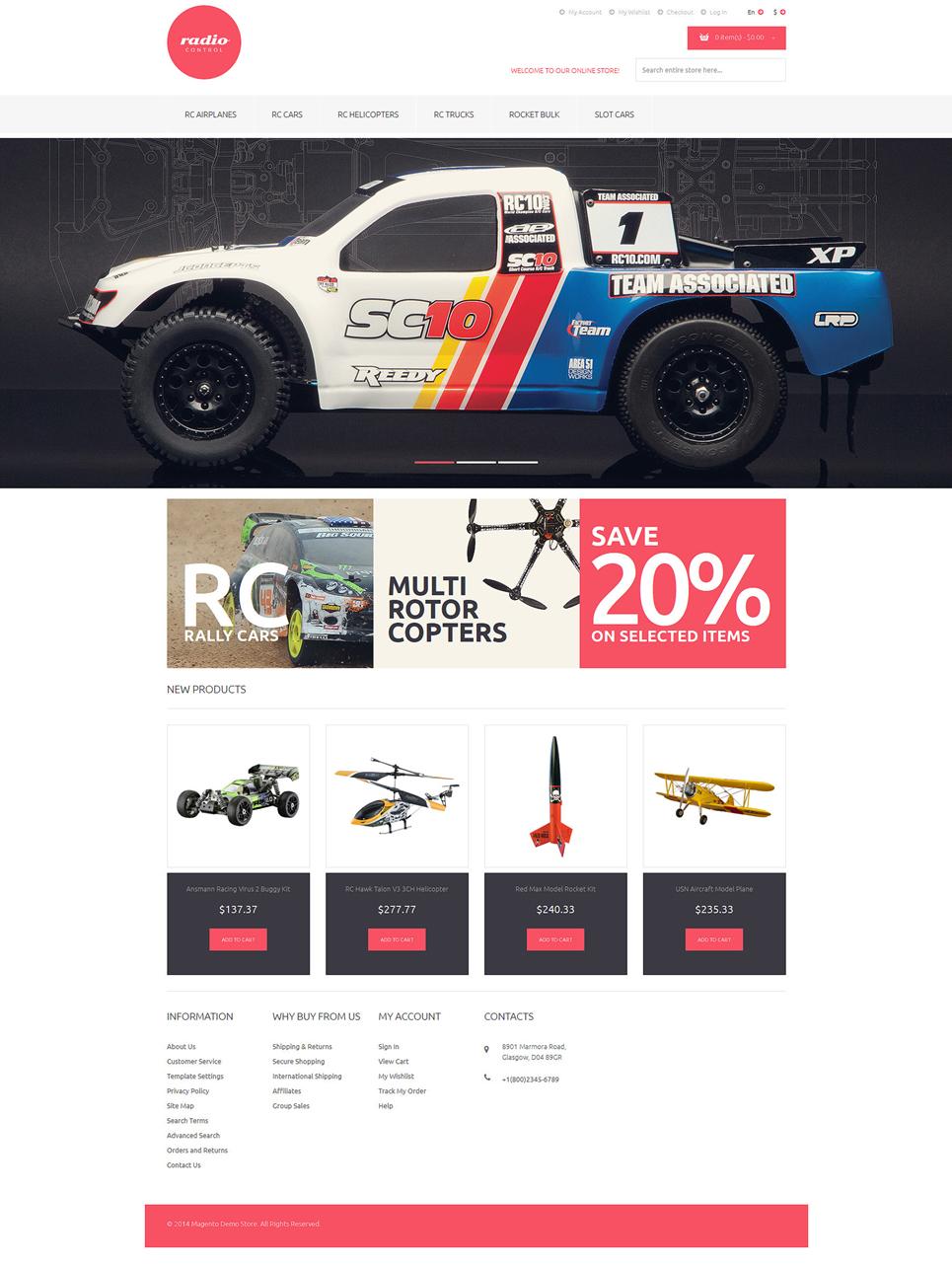 RemoteControlled Toys Magento Theme TMT