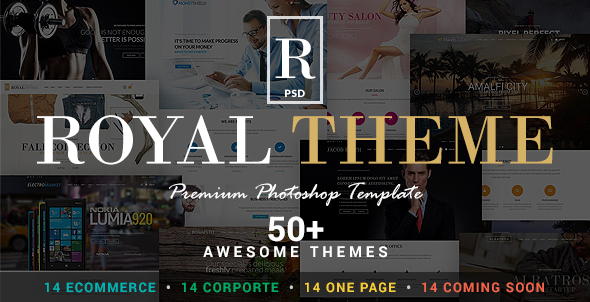 Royal - Corporate and E-Commerce PSD Theme  TFx