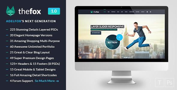 TheFox | Multi-Purpose PSD Template  TFx