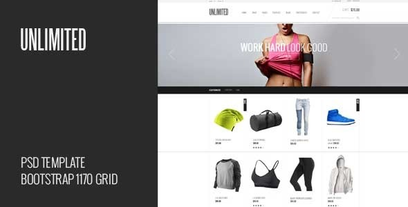 Unlimited - eCommerce PSD Template  TFx