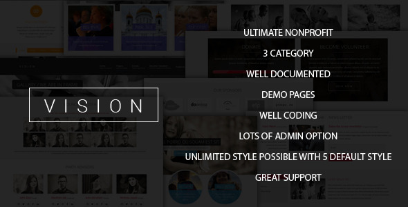 Vision – Ultimate Nonprofit Joomla Theme  TFx
