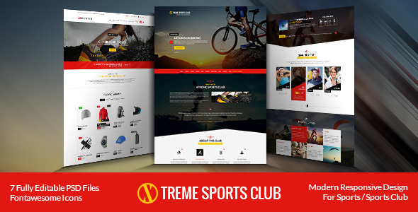 Xtreme Sports club - PSD Template  TFx