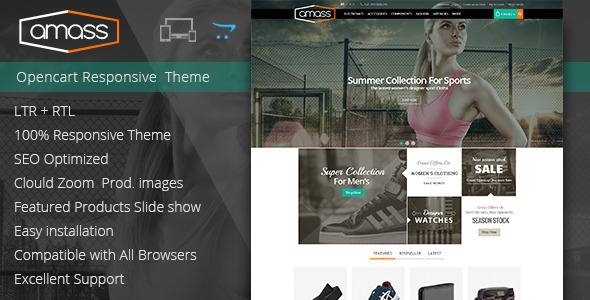 Amass - Opencart Responsive Theme  TFx