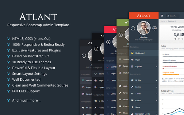 Atlant - Responsive Bootstrap Admin Template  TFx