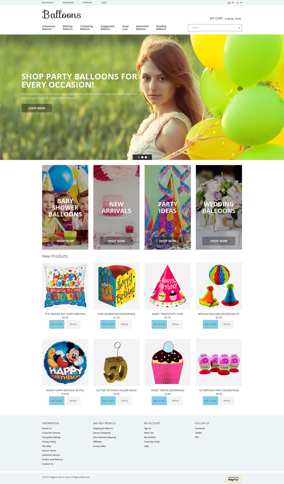 Balloons Joy Magento Theme TMT