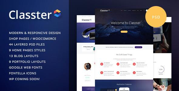 Classter | Multi-Purpose PSD Template  TFx