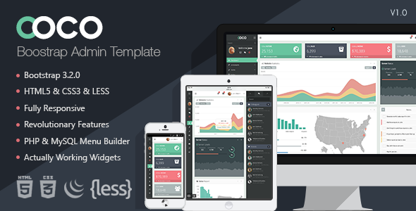 Coco - Responsive Bootstrap Admin Template  TFx