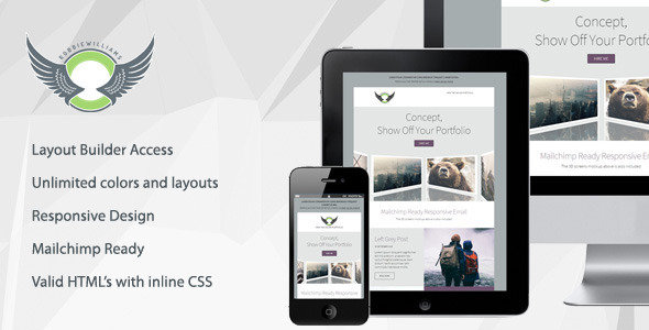 Concept - Responsive Email Template With Builder  TFx
