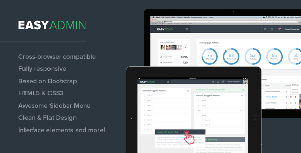 Easy Admin - Responsive HTML Template  TFx