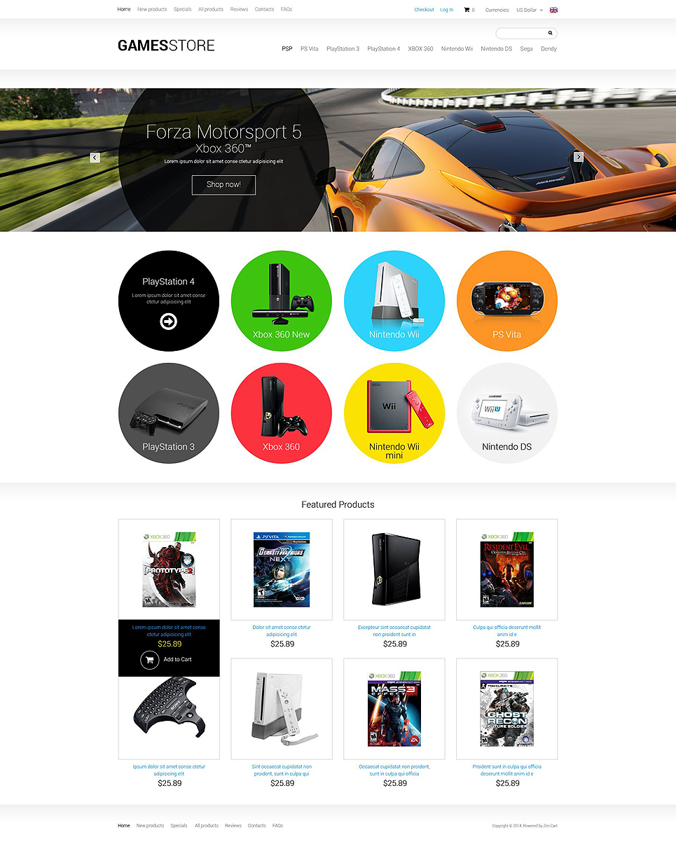 Games ZenCart Template TMT