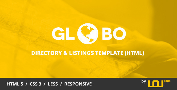 Globo - Directory & Listings HTML Template  TFx