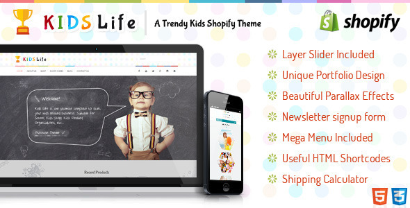 KidsLife Responsive Shopify Theme  TFx
