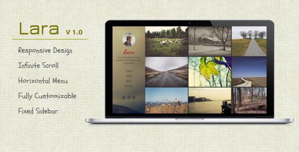 Lara - Blogger Template For Photographers  TFx