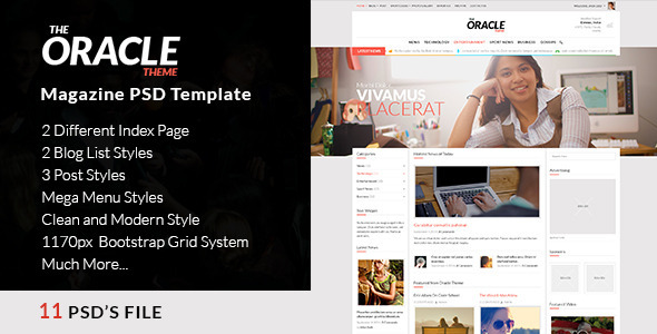 Magazine PSD Template - The Oracle  TFx
