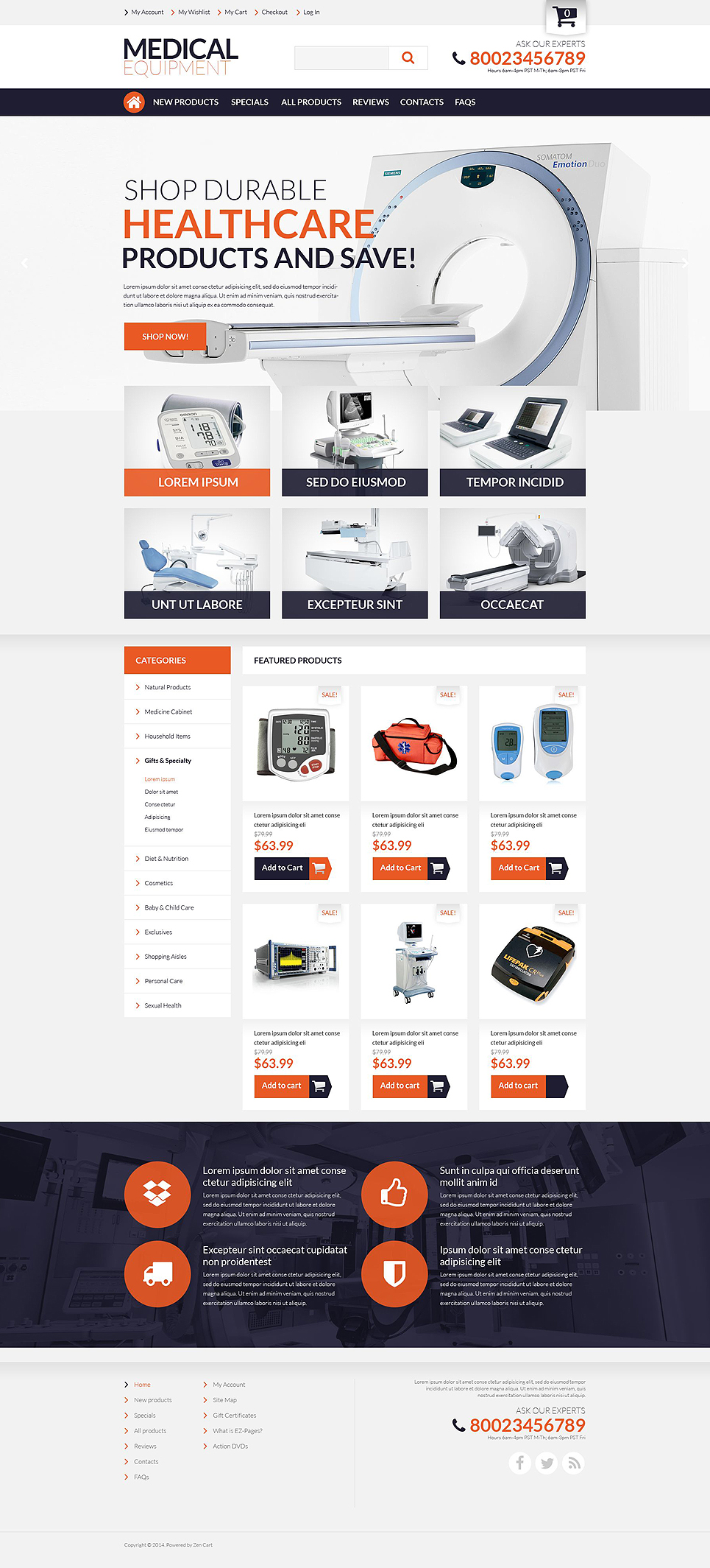 Medical Supplies ZenCart Template TMT