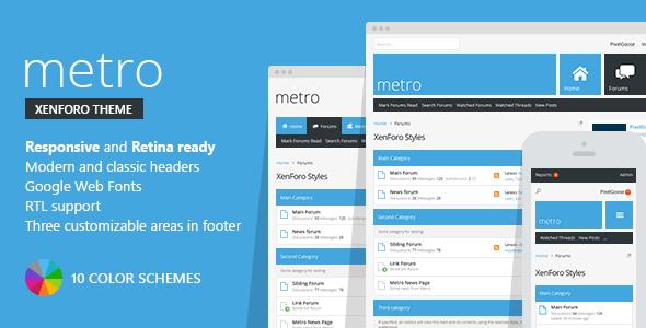 Metro — XenForo Responsive & Retina Ready Theme  TFx
