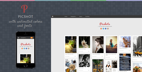 PicShots - Responsive Blogger Template  TFx