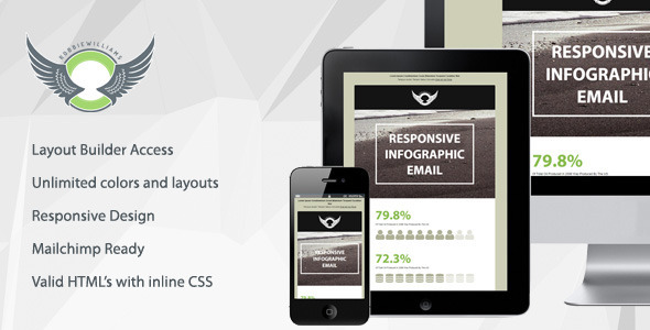Wave - Responsive Infographic Email With Builder  TFx