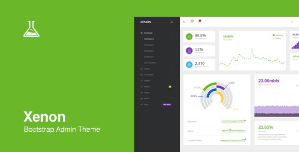 Xenon - Bootstrap Admin Theme  TFx SiteTemplates