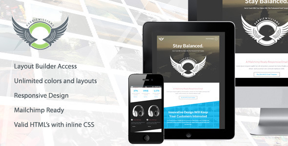 Balance - Responsive Email Template with Builder  TFx