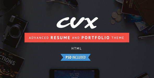 CVX - Advanced Resume and Portfolio HTML Template  TFx