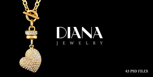 Diana - Creative Jewelry PSD Template  TFx