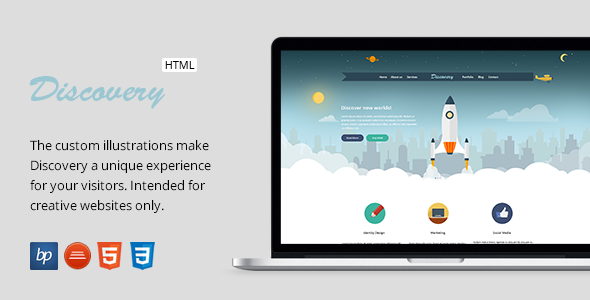Discovery - Responsive One Page HTML5 Template  TFx