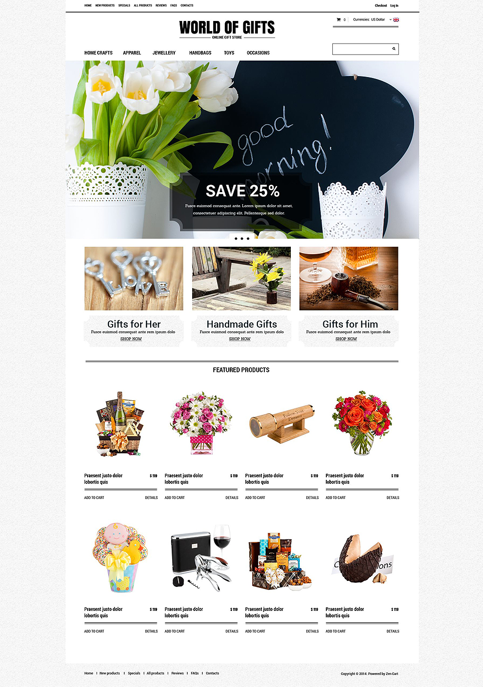 Gift Shop ZenCart Template TMT