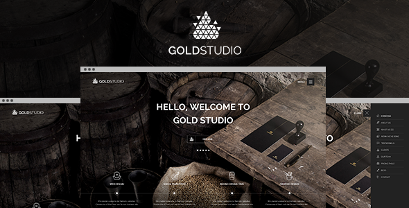 Gold | Creative HTML5 Template  TFx SiteTemplates