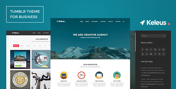 Keleus - Responsive Tumblr Business Theme  TFx