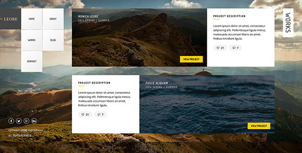 LEORE - Creative Photography Template  TFx