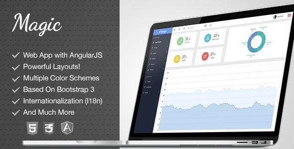 Magic - Responsive Bootstrap & AngularJS Admin  TFx
