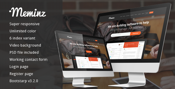 Meminz download software landing page  TFx