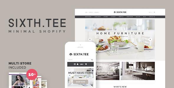Minimal Multipurpose Shopify Theme - SixthTee  TFx