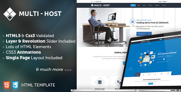 Multi Host - Responsive Hosting Template  TFx