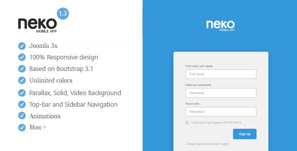 Neko - Responsive Bootstrap App Landing Page  TFx