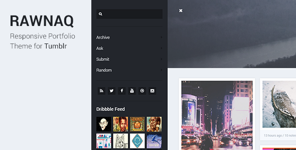 Rawnaq - Responsive Portfolio Theme For Tumblr  TFx