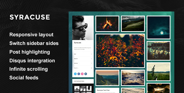 Syracuse - Responsive Grid Theme  TFx Blogging