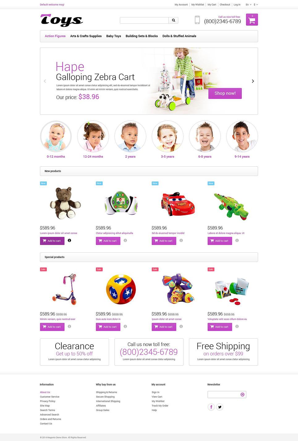 Toy Store Responsive Magento Theme TMT