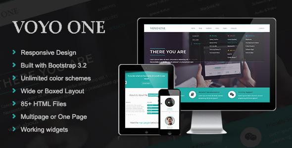 Voyo One - Responsive Multipurpose HTML5 Template  TFx