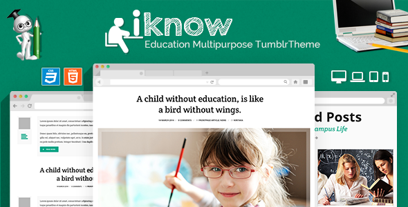 iKnow Education Responsive Tumblr Theme  TFx